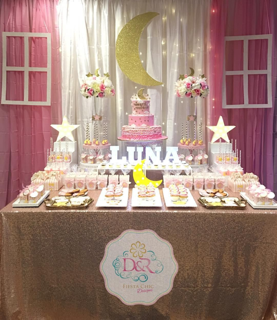 twinkle twinkle little star dessert table love you to the moon and rh pinterest com