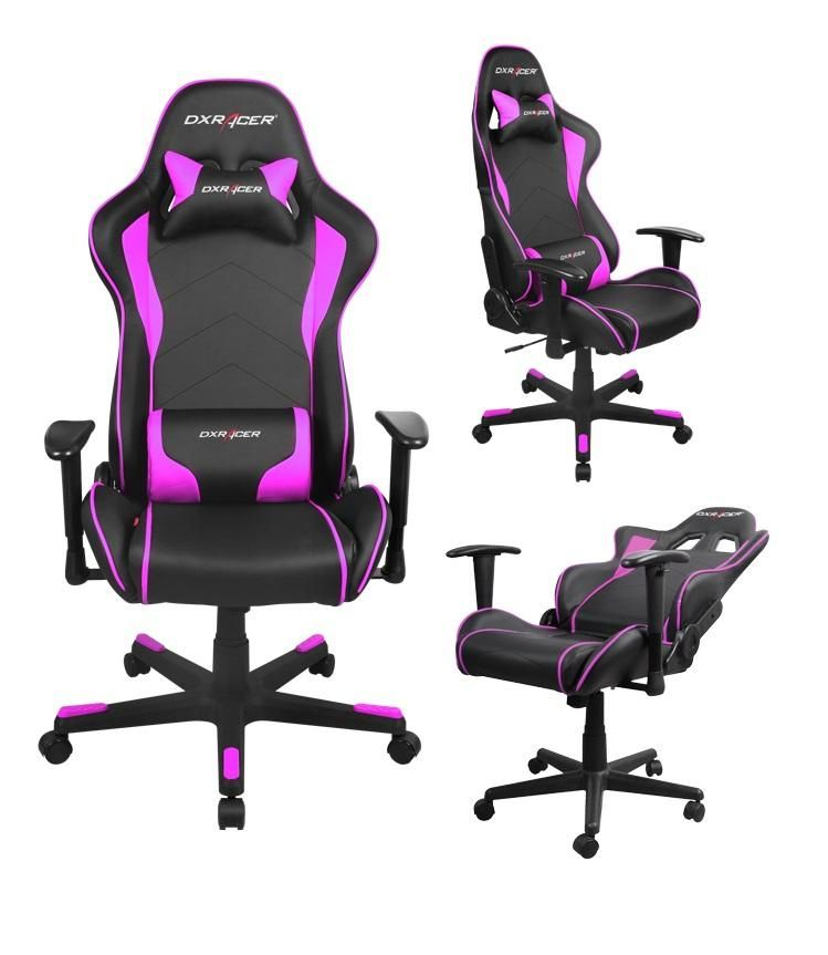 dxracer gaming chair fe08 leather black pink free shipping rh pinterest com