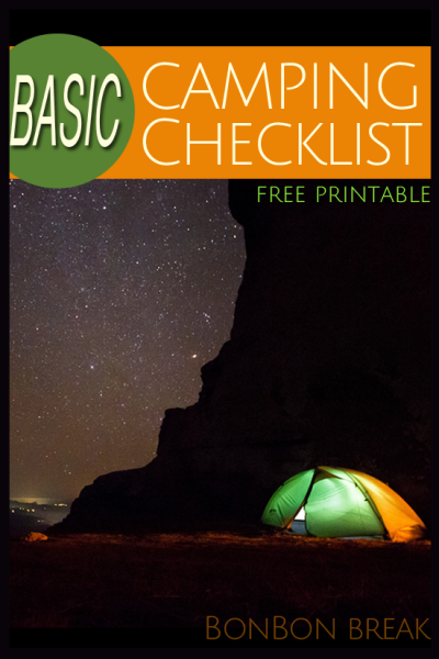 Basic Camping List