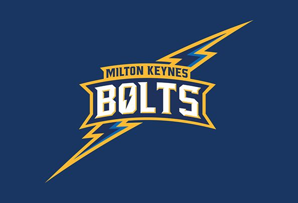The team branding for the newest ice hockey team in Milton Keynes the Milton Keynes Bolts.