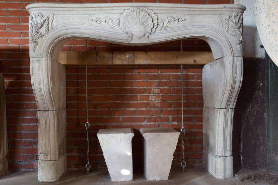 antieke schouwen franse kalksteen schouw idee n de opkamer nl rh pinterest co uk