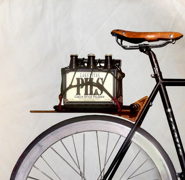 Ruphus Slim Rear Rack...perfect for beer. Read the full article here: http://momentummag.com/gear/carry-stuff/ruphus-rear-bike-racks/