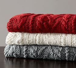 Pillows & Throws Warner Braided Hand Knit Throw $129 special $90 | Pottery Barn