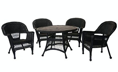 5piece black resin wicker chair and table patio dining furniture set rh pinterest cl