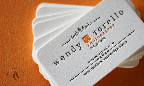 Letterpress Business Card  Great Ideas Come From