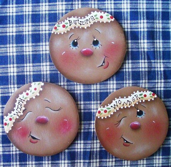 Gingerkids Ornaments Set by stephskeepsakes on Etsy, $8.99