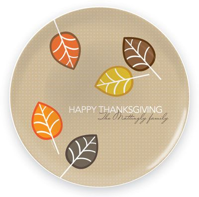 Spark  Spark Melamine Plates - Fall Leaves, Perfect for