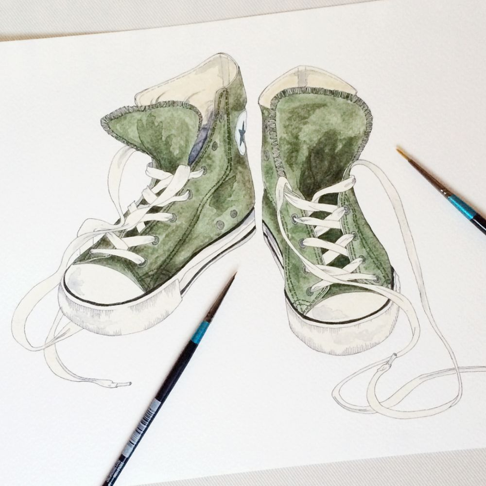 Guest Artist Splashes Through Time Sneakers Sketch Sneakers