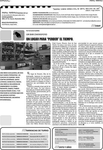 Diseño Editorial. Contratapa periódico Prensa Regional nº 25. Número aniversario. Alcorta, noviembre 2013.