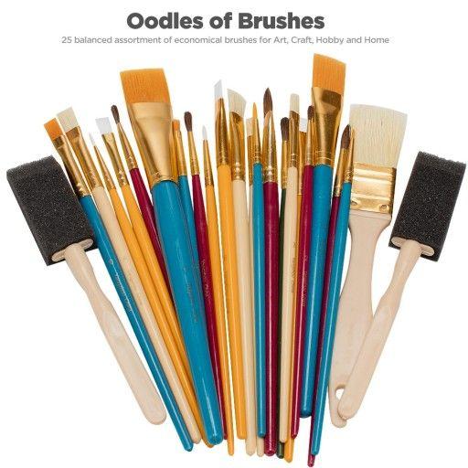 Oodles Of Brushes Economical Art Brush Set Of 25 Art Craft