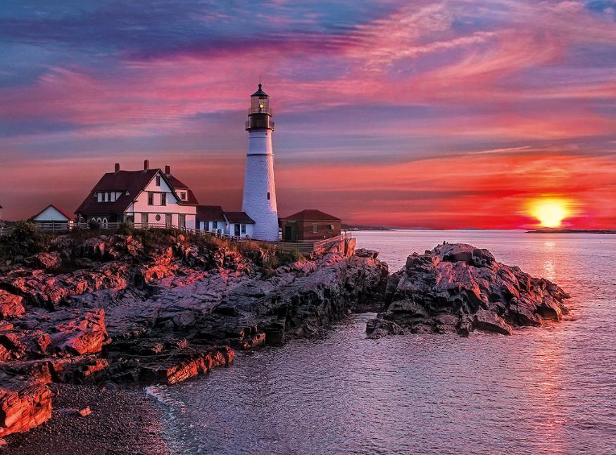 screenshot lighthouse in maine jigsaw puzzle 40 pieces rh pinterest com