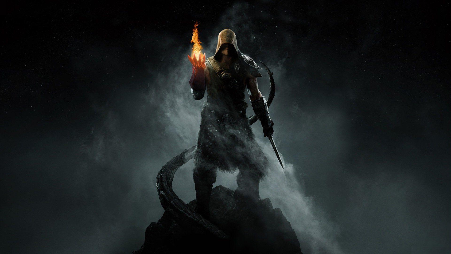 The Elder Scrolls V Skyrim 2011 How To Stop Running Out Of Magicka As A Pure Mage Skyrim Wallpaper Skyrim Mage Digital Wallpaper