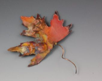 COPPER MAPLE LEAF: wall decor,metal sculpture,metal art ,wall art ...
