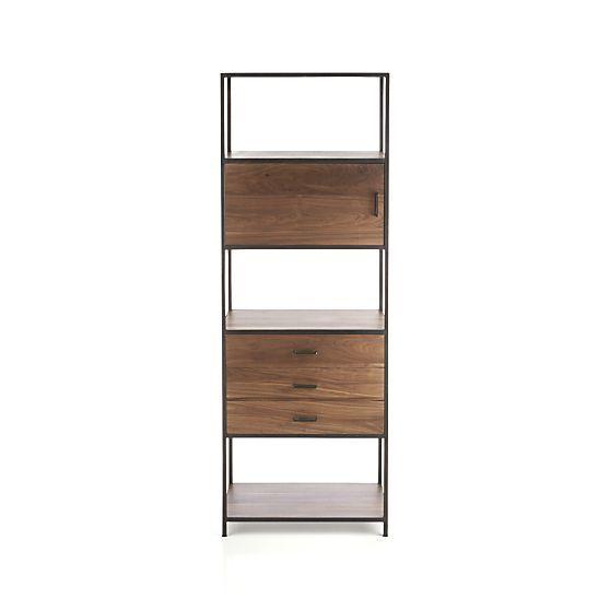 knox tall storage bookcase want living room ideas bookcase rh pinterest com