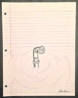 Periscope Submarine Art  Notebook Paper Illusion  Original