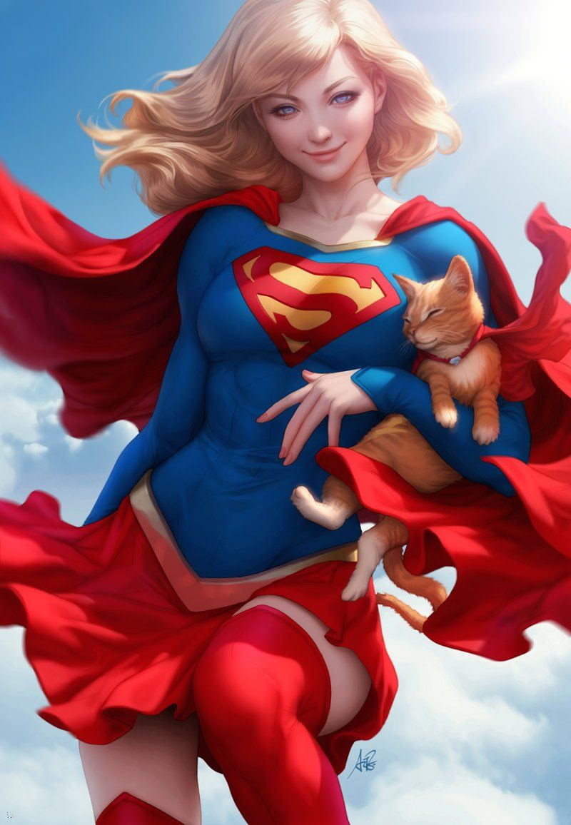 Catwoman and supergirl breast expansion