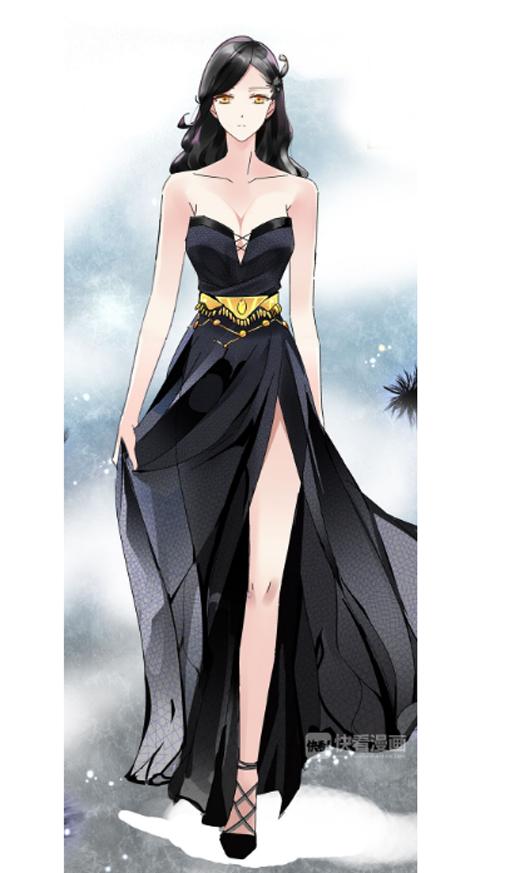 Black dress girl anime — img 12
