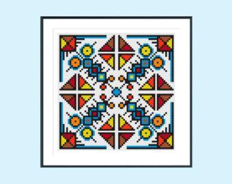 Rainbow butterfly cross stitch pattern PDF by ClimbingGoatDesigns