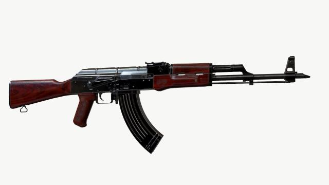 AKM AK 47 74 3D Model Max C4d Obj 3ds Fbx Lwo Stl 3DExport By B1endMan