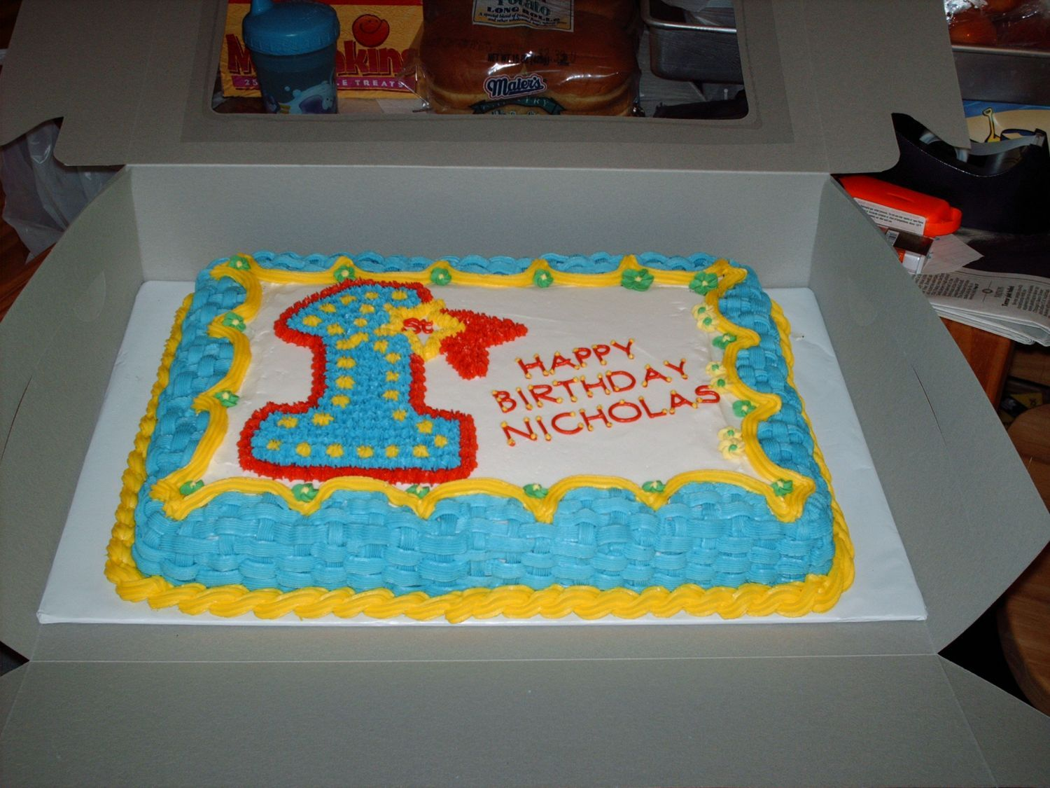 1st Birthday for little boy The mom sent me a copy of the