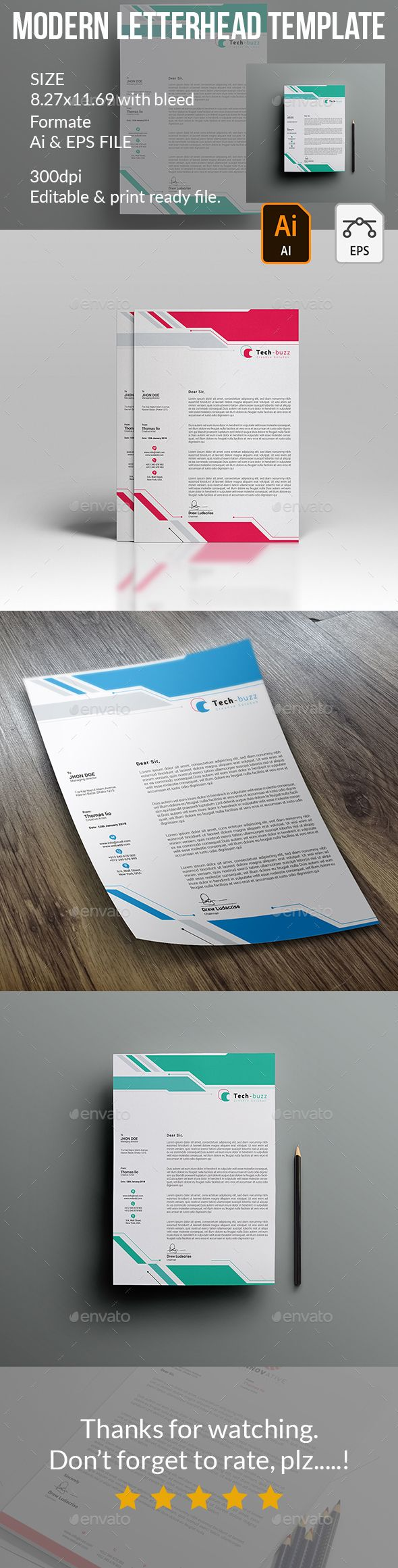 Letterhead Proposals u0026 Invoices Stationery Letterhead