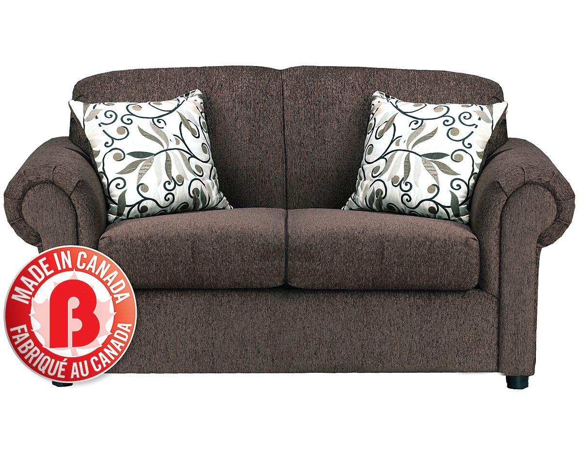 the brick condo furniture. Tony Microsuede Loveseat - Chocolate, (TONY-L) | The Brick Condo Furniture I