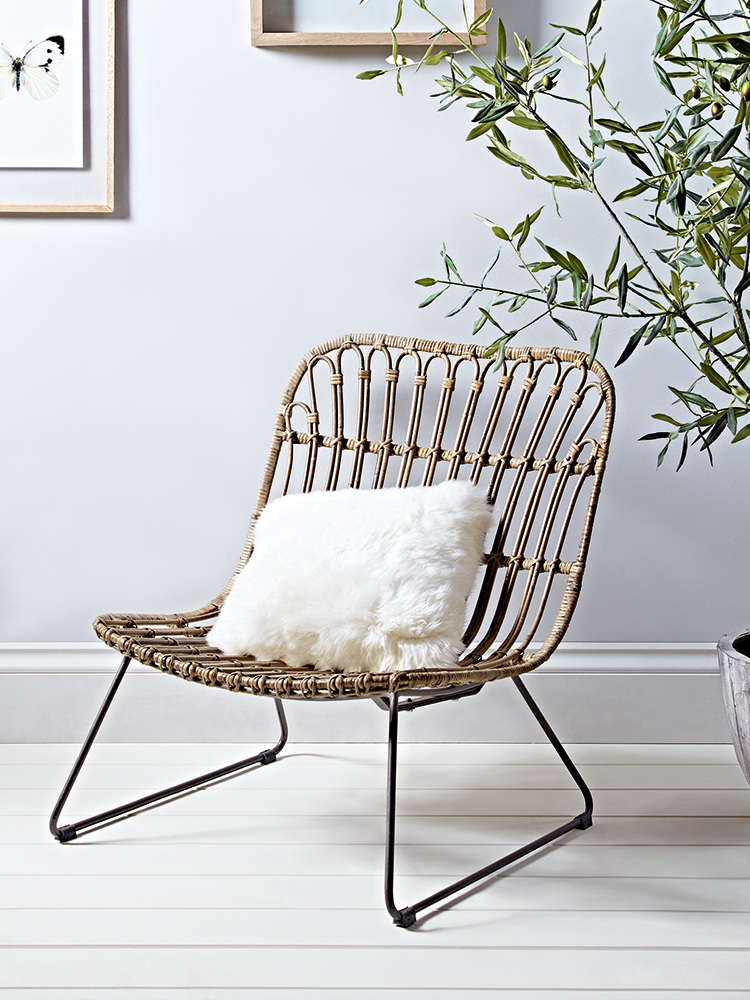 Carefully Woven From Beautiful Rattan Around An Iron Frame, Our Low Chair  Has A Wide Seat For Extra Comfort And High Back. Perfect For Additional  Casual ...