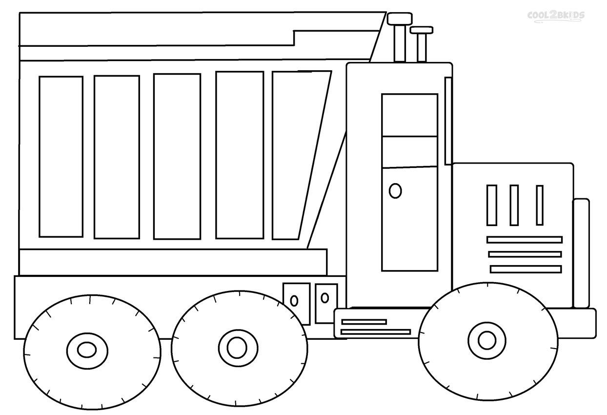 Dump Truck Coloring Pages With Images