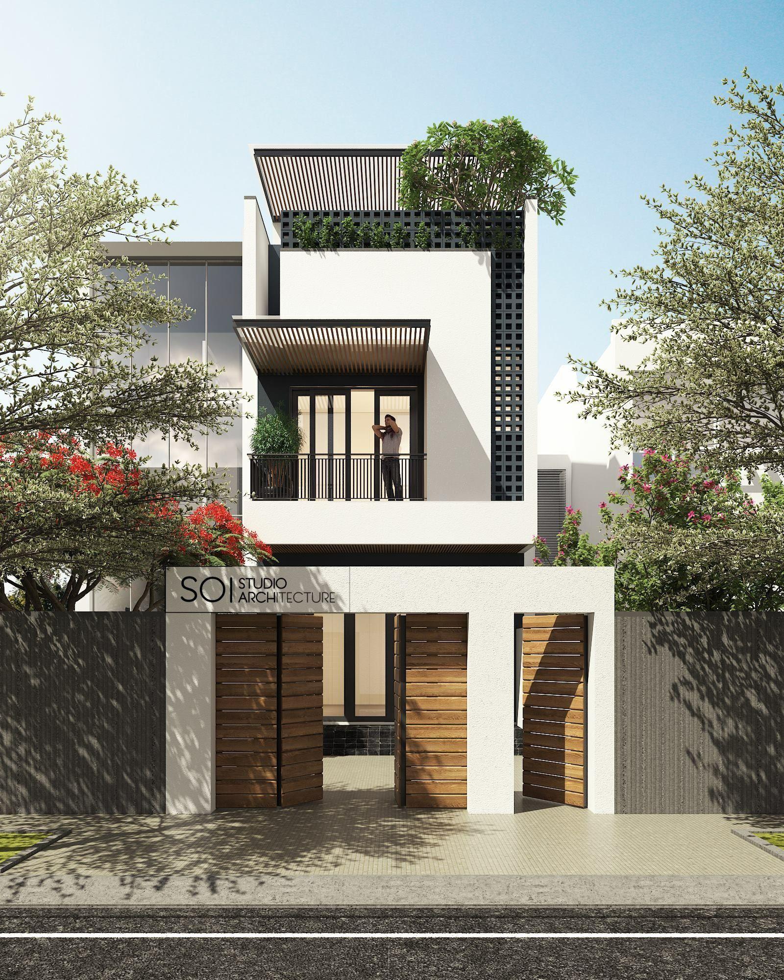 Maison moderne immobilier maison de ville maison compacte maison étroite maisons