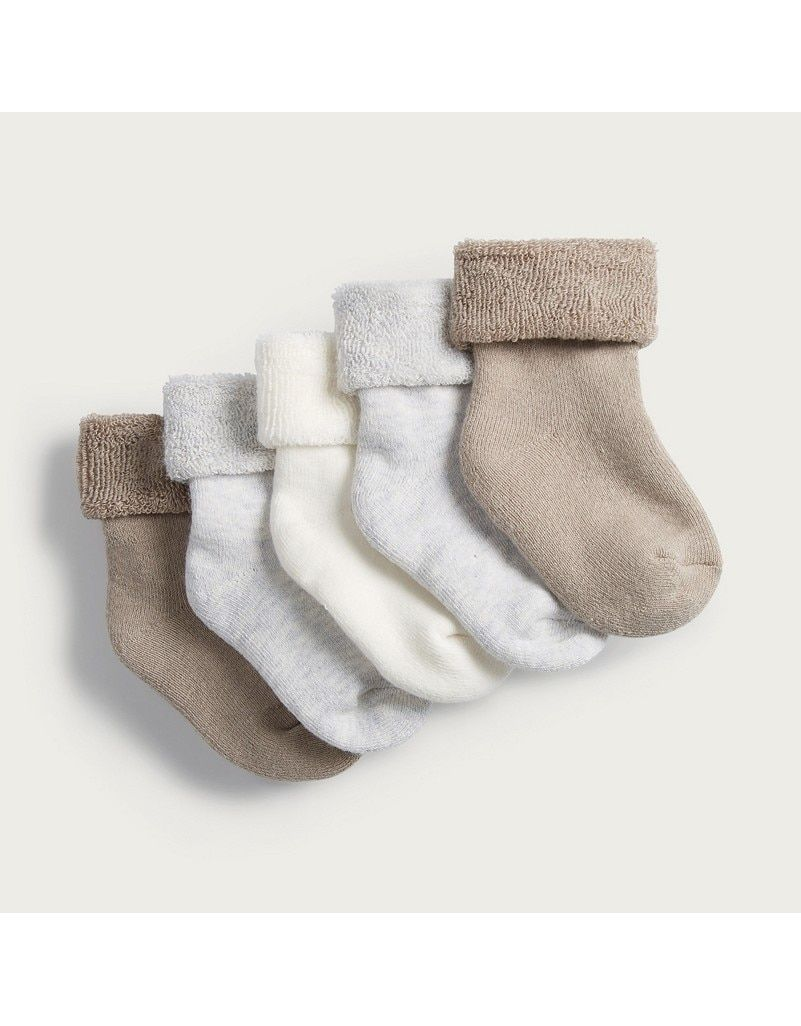 Neutral Socks Set Of 5 Baby Boys The White Company Neutral Socks Socks The White Company