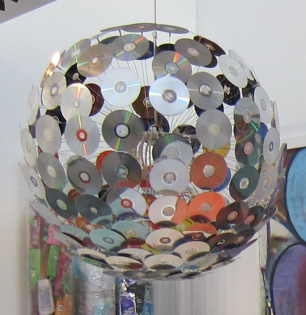 Upcycle cds to hanging lamp upcycle hgtv and ikea hack for Diy upcycling projects