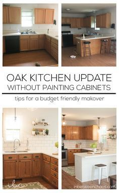 how to update a 90 s kitchen without painting the cabinets new rh pinterest com