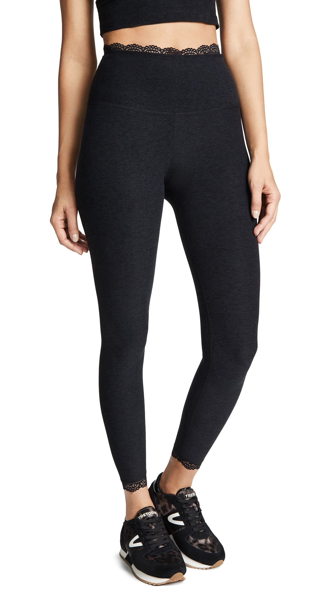 489f16871b All for Lace High Waisted Leggings by Beyond Yoga in Darkest Night ...