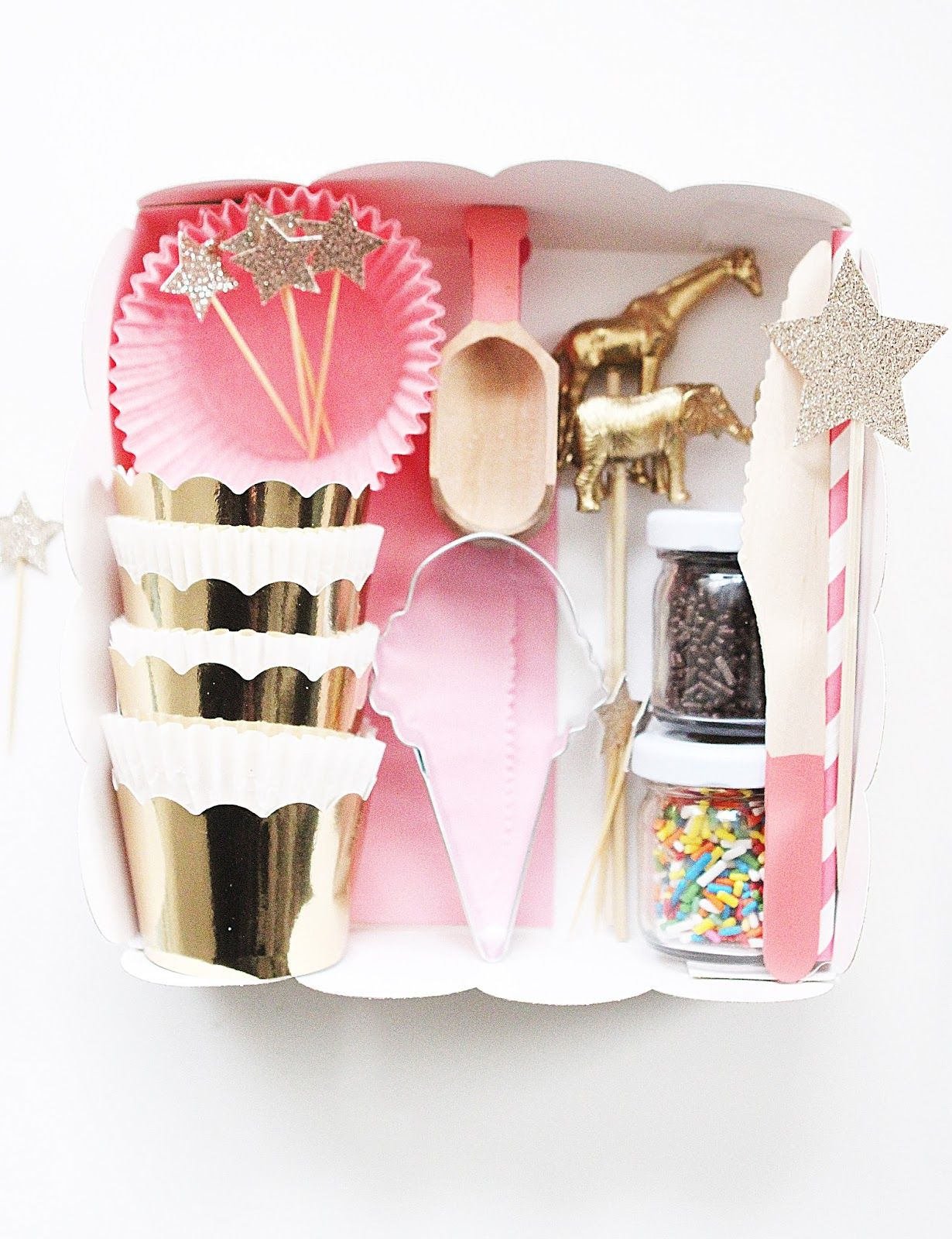 DIY cookie decorating party kit. (This could be a fun gift