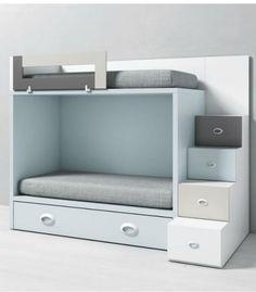 Litera infantil DADO con cama nido y acceso lateral llits