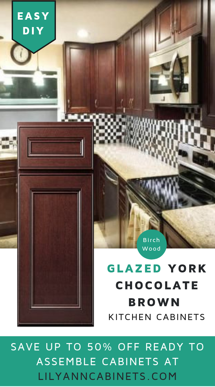 Lilyanncabinets Glazed York Chocolate Brown Kitchen Cabinets Is Timeless That Give Them Kitchen Cabinets Diy Kitchen Cabinets Makeover Brown Kitchen Cabinets