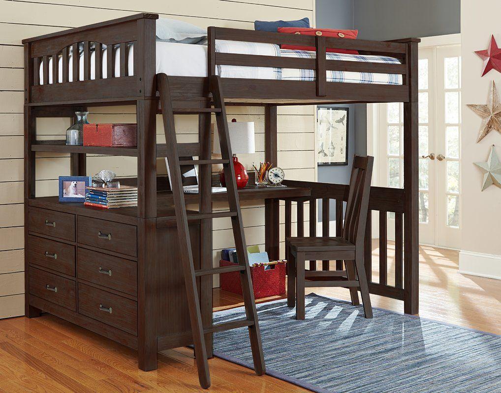 stella full loft bed with desk griffin s room ideas pinterest rh pinterest com
