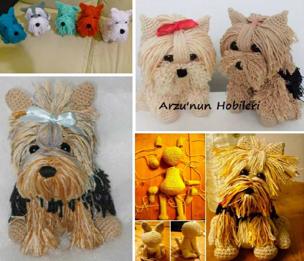 Free Crochet Yorkie Dog Pattern With Video | Bären