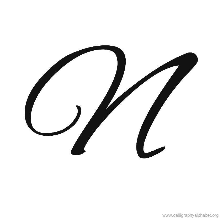 Calligraphy alphabets n letter pinterest