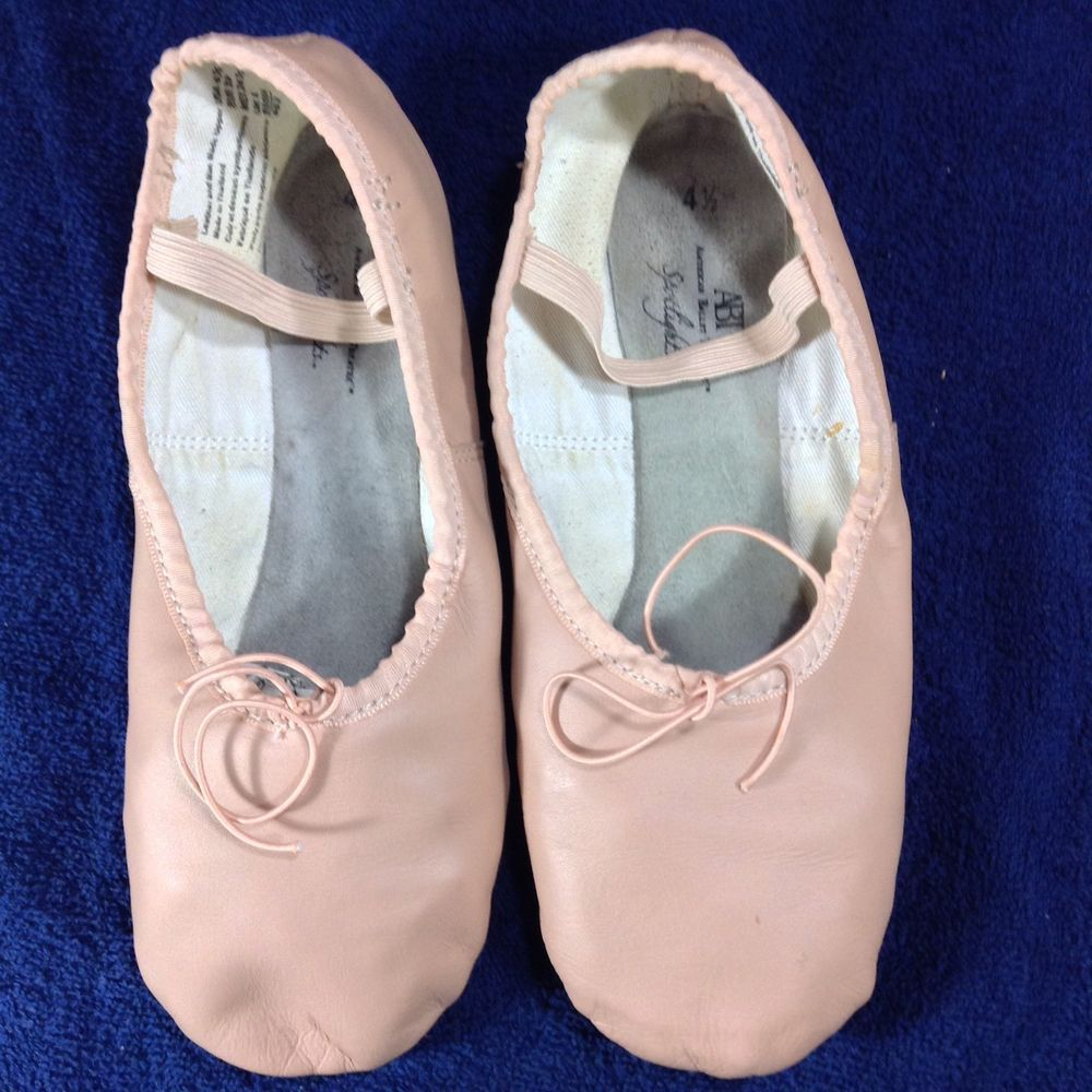 Girls Ballet Slippers Pink Size ABT American Ballet Theatre - Abt ballet shoes