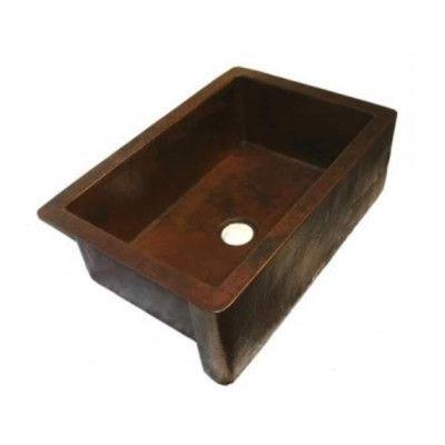 soleil 33 x 22 single apron front copper kitchen sink products rh pinterest com