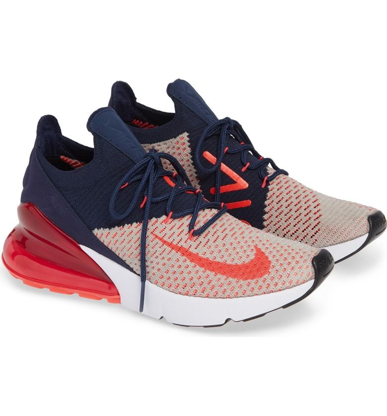 hot sale online bc24d 3104e Free shipping and returns on Nike Air Max 270 Flyknit Sneaker (Women) at  Nordstrom.com. Built for airy, lightweight comfort, this sock-fit sneaker  features ...