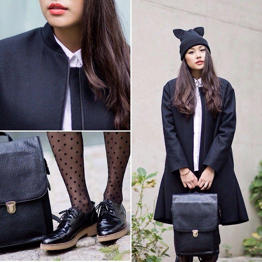 Christmas gift idea: sleek faux leather backpacks: http://famecherry.com/fashionista-now/sleek-black-faux-leather-backpacks-christmas-gift-inspiration/
