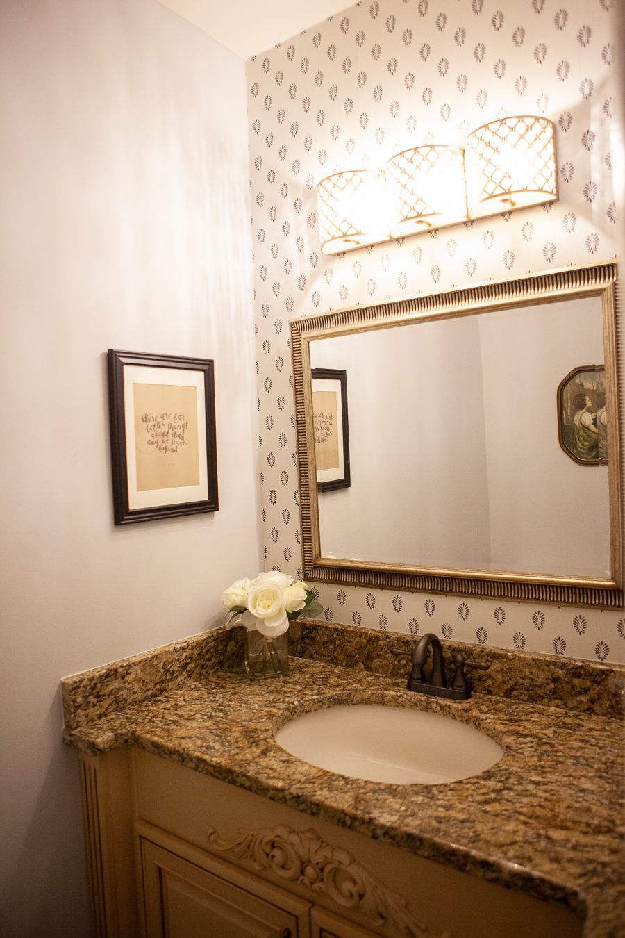 Instant hall bath update: gold crystal vanity light ...