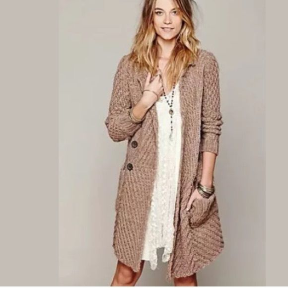 Free People Buttermilk Biscuit Chunky Cardigan | Chunky cardigan ...
