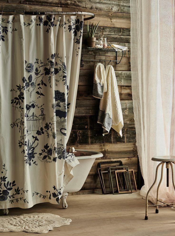 Shower Curtain Liner | Anthropologie, Sketches and Bath on waterworks bathroom design, houzz bathroom design, kelly wearstler bathroom design, ikea bathroom design,