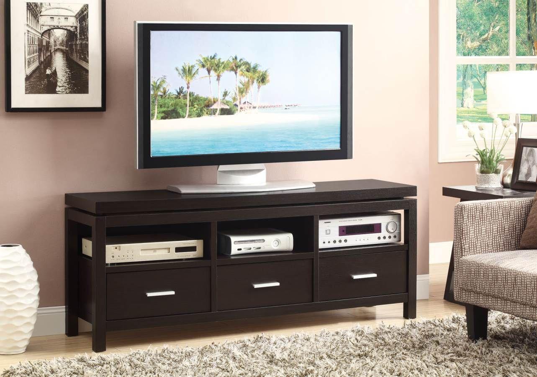coaster furniture cappuccino wood tv console tv stands 60 tv rh pinterest com