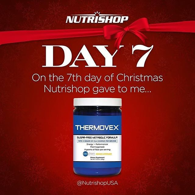 Enter to win @nutrishopusa  @nutrishopusa  @nutrishopusa  @nutrishopusa .... Repost @nutrishopusa with @repostapp.On the 7th day of Christmas Nutrishop gave to me THERMOVEX  How to Enter: 1.) Must be following @NutrishopUSA  2.) Spread the Christmas cheer-- Tag 3 friends 3.) Tag your local Nutrishop store  ALL winners will be announced on December 25th {Your product will ship right after Christmas} {Must be public} #NutrishopUSA by nutrishopmp