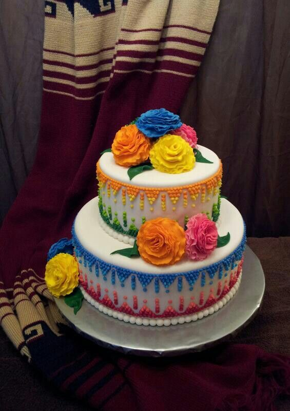 Mexican Fiesta Shower Cake By Myrna S Yummy Cakes My