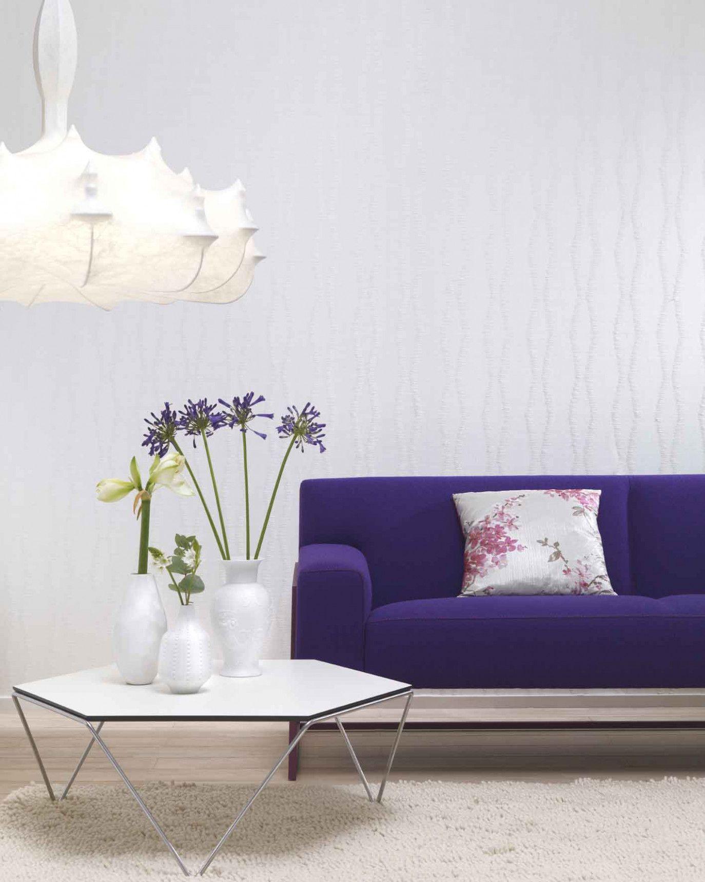 wohnzimmer modern tapete